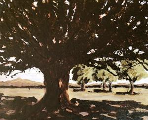 Oak Tree with Distant Trees 8x10 OTC