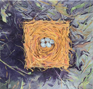 Square Bluebird Nest