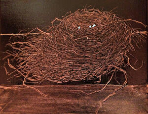 Robin Nest On Shelf - Long Gone  SOLD